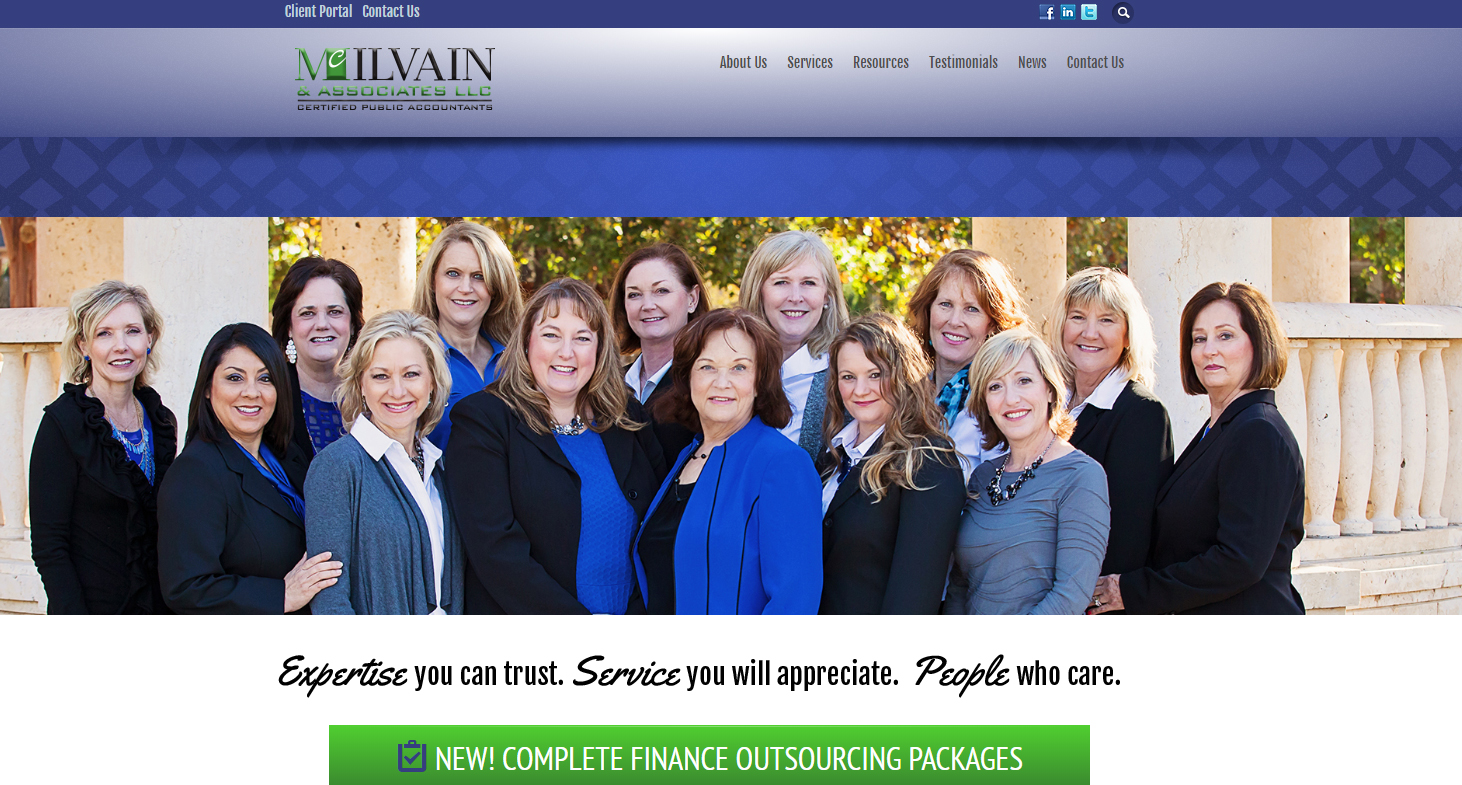 McIlvain Website Design