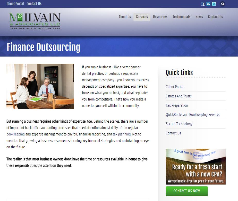 McIlvain Web Copy