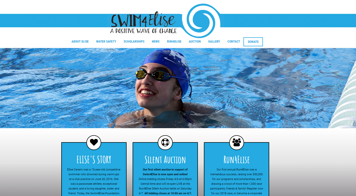 Swim4Elise Website